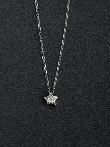 Small five-pointed star 925 silver necklaces
