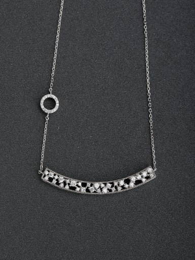 Korean version of fashion simple hollowed out 925 silver necklace