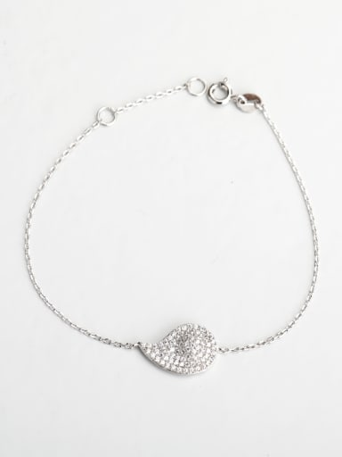 Minimalist design Rhinestone Eyes 925 silver Bracelets