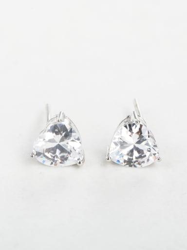 Bling bling Triangle Zircon Cuff Earrings