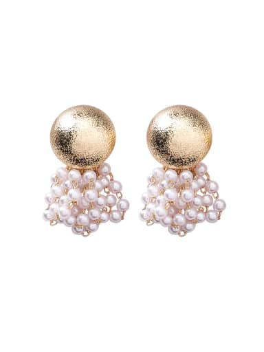 Alloy With Gold Plated Fashion Imitation pearls Charm Stud Earrings