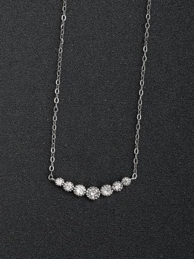 Micro inlay Zircon Minimalist 925 Silver Necklaces