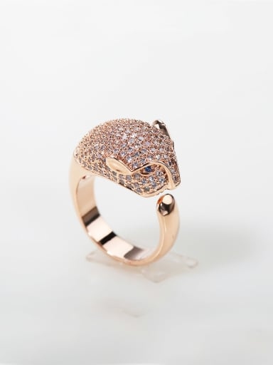 luxurious Micro-inlay Full Zircon Bling bling 100+ zircons leopard ring