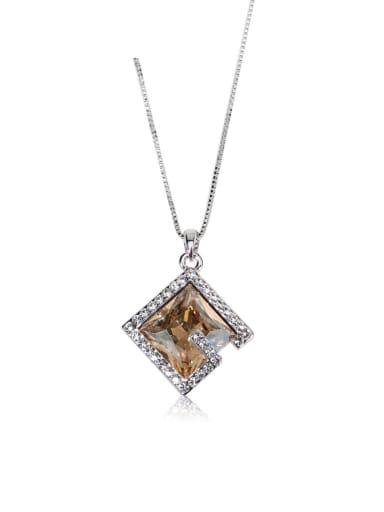 Brown Crystal Rhinestone letter G Swarovski element crystal necklace for party Charm
