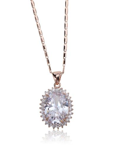 Simple zircon shine necklace
