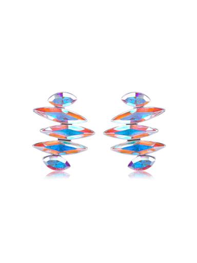 Not specification geometric crystal Swarovski element crystal Earrings
