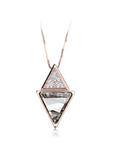 Unique triangle  shape Rhinestone Swarovski element crystal necklace