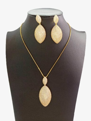 Copper With Gold Plated Simplistic Oval Jewelry Sets