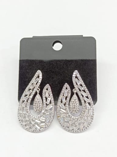 Copper With White Gold Plated Trendy Hook Earrings