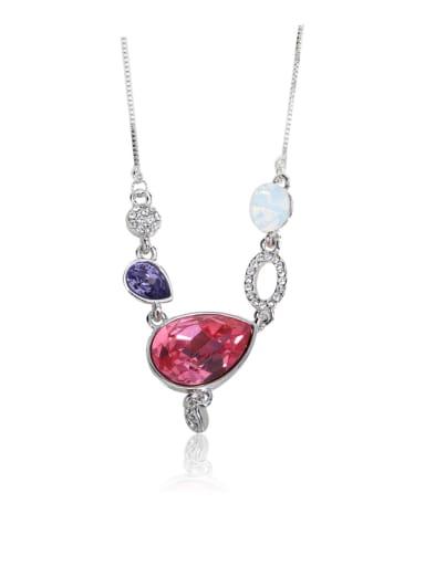 Large drops Swarovski element crystal necklace