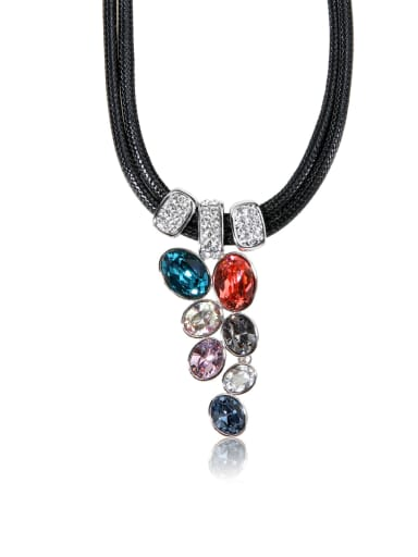 Multicolored Crystal Beads  Swarovski element crystal necklace for party