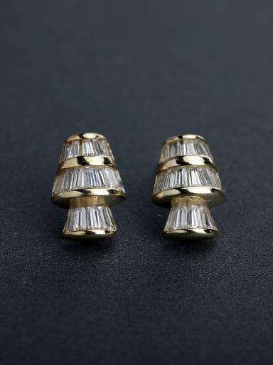 Bling bling Micro inlay Zircon  925 silver Stud earrings