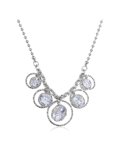 Dazzling white Swarovski element crystal necklace