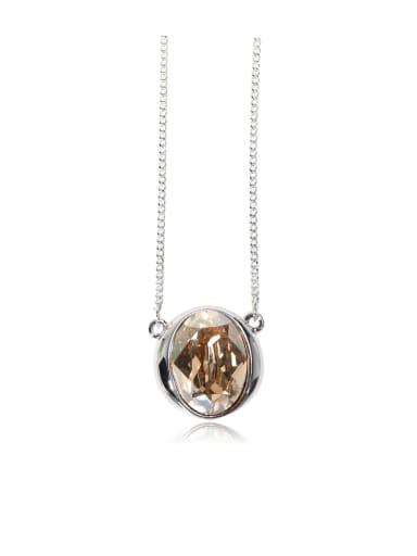 Classic round Swarovski element crystal  necklace