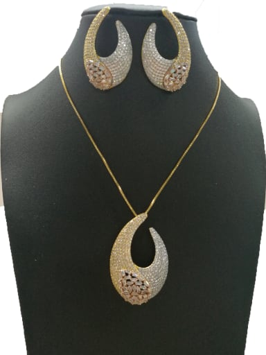 Copper With Mix Plated Fashion Anchor 2 Piece Jewelry Set