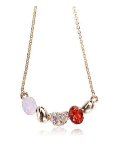 Pink protein Swarovski element crystal necklace for party Charm