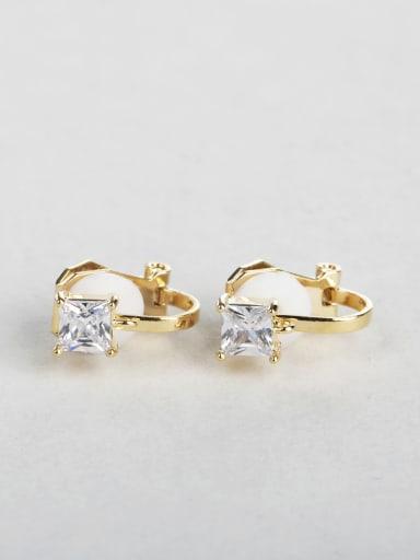 Square zircon cuff earrings
