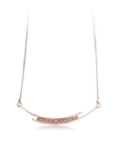 Simple  Swarovski element crystal necklace