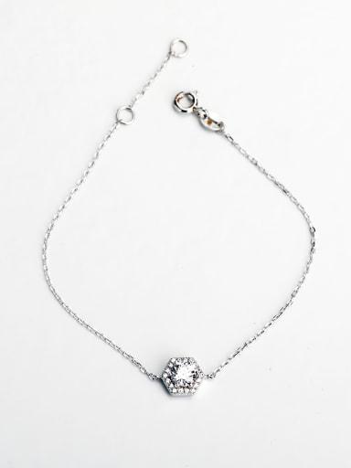 Minimalist design Rhinestone silver 925 Bracelets