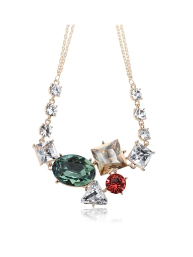 Dazzling crystal combination Swarovski element crystal necklace Multicolor