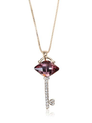 Alien Crystal Key Swarovski element crystal necklace