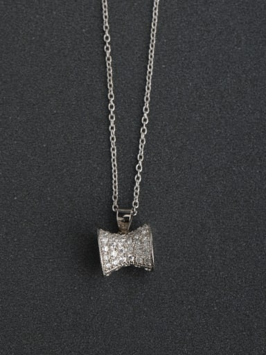 Micro inlay Zircon bling bling hammer 925 Silver Necklaces