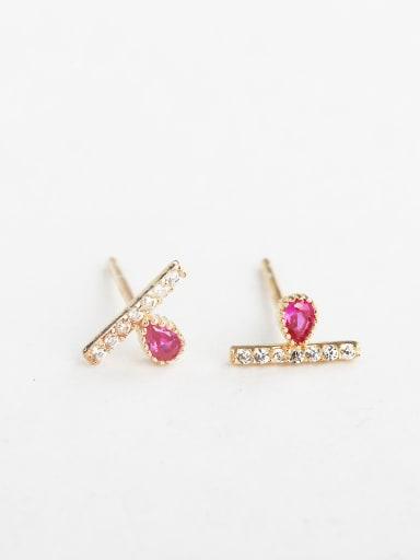Pink zircon Cuff Earrings