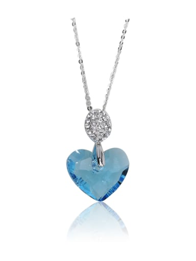Bling bling Alien  Love crystal Swarovski element crystal necklace