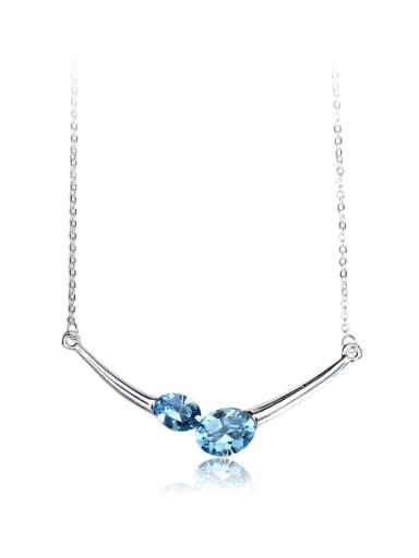 Simple shape Swarovski element crystal necklace
