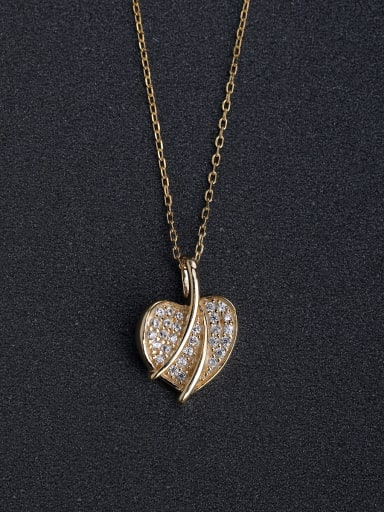 Full heart-shaped pendant 925 silver necklace
