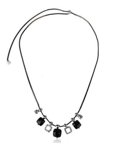 Geometric square Semi-Precious Stone Necklace