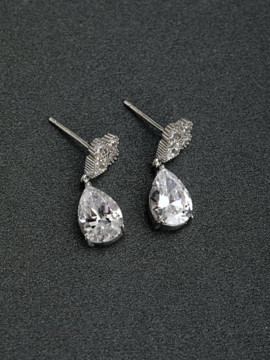 Micro inlay Zircon unique 925 silver Drop Earrings