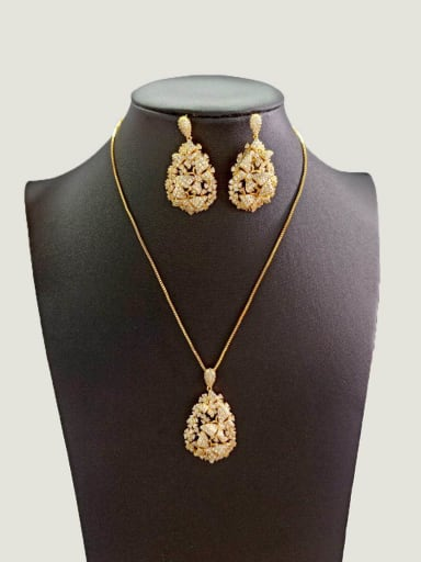 Copper With Gold Plated Fashion Butterfly Jewelry Sets
