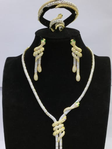 Copper With MIX Plated Fashion Animal 4 Piece Jewelry Set