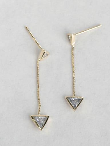 Triangular zircon earrings