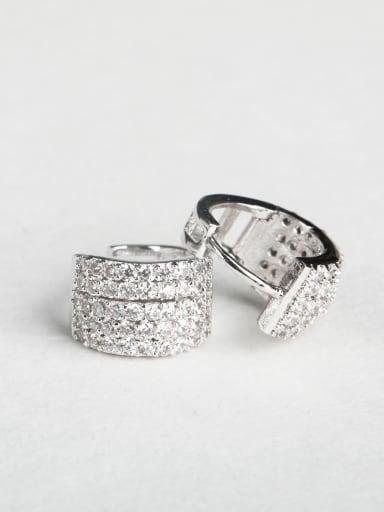 Bling bling Write zircon Cluster Earrings