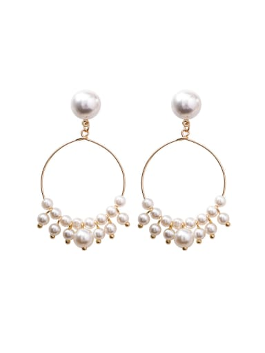Alloy With 18k Gold Plated Fashion Charm Chandelier Earrings