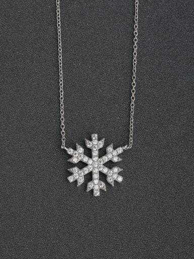 Snowflake Rhinestone necklace 925 silver necklaces