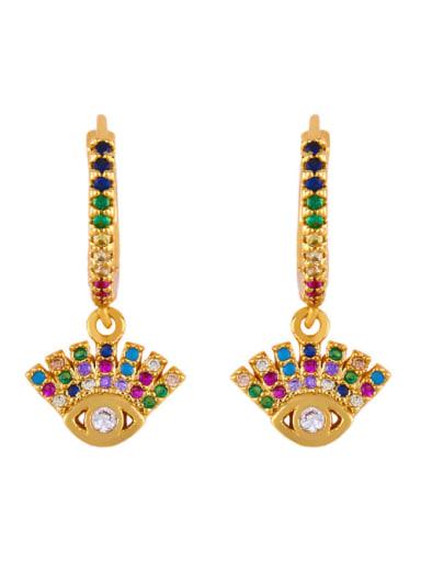 Copper With Cubic Zirconia Trendy Evil Eye/crown Drop Earrings