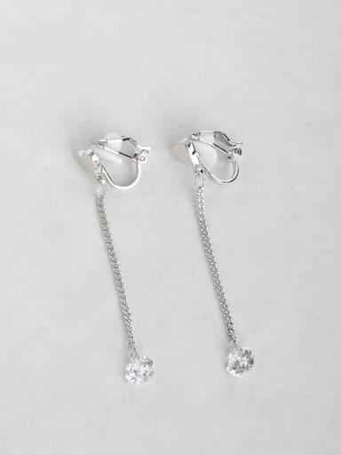 Slim-style zircon ear clip