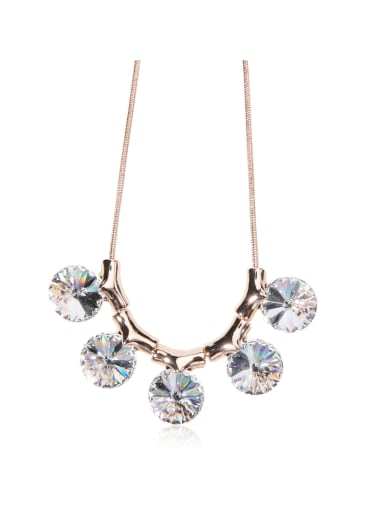 Bling bling Sun Stone Flowers  Swarovski element crystal necklace for party Charm
