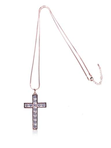 Bling bling Cross Long Necklace
