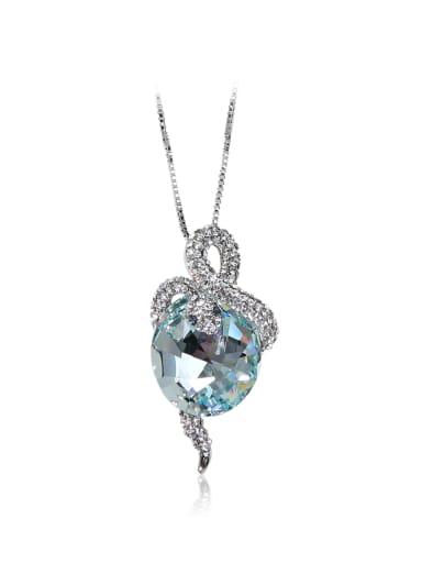 Drilled snake SWAROVSKI element crystal necklace