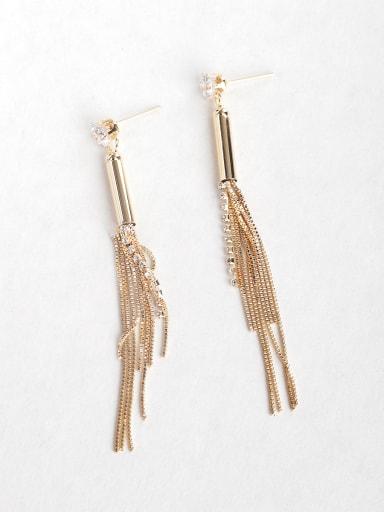 tassel Rhinestone Drop Earrings