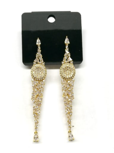 Copper With Gold Plated Trendy Irregular Earrings