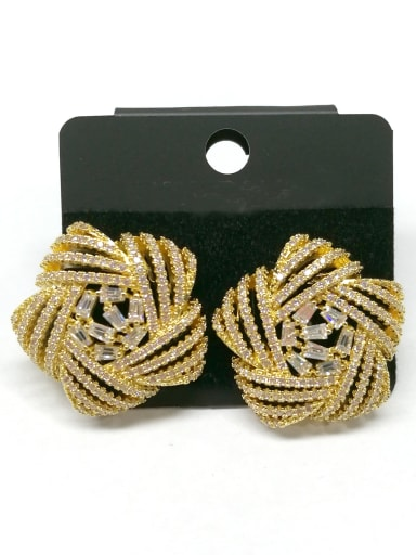 Copper With Gold Plated Fashion Star Earrings