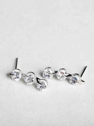 Shiny zircon Stud Earrings
