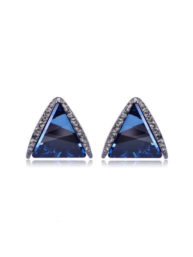 Three-dimensional triangle Swarovski element crystal Earrings