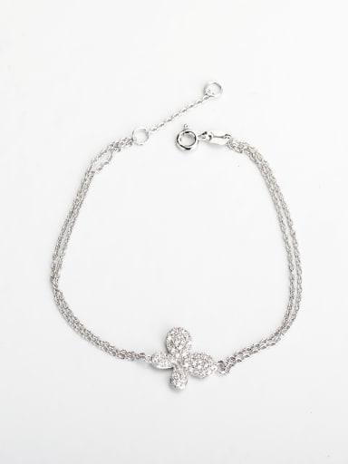 Minimalist design Rhinestone butterfly silver 925 Bracelets