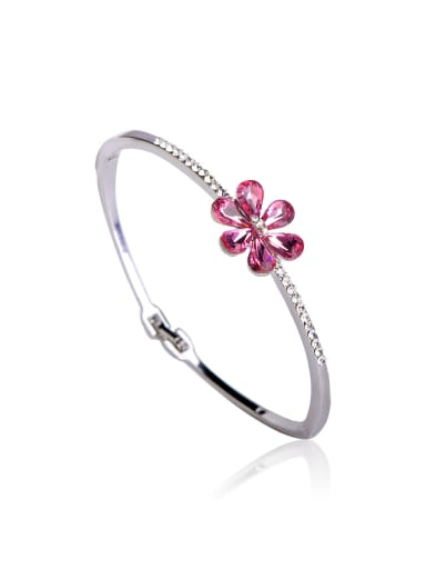 Flowers Swarovski Crystal Elements Bangle